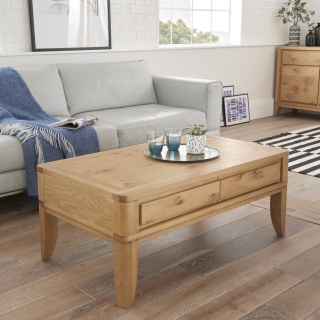 Signature Collection High Park Coffee Table With Drawers