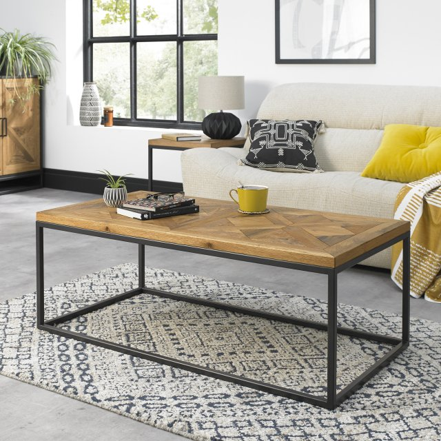 Signature Collection Indus Rustic Oak Coffee Table
