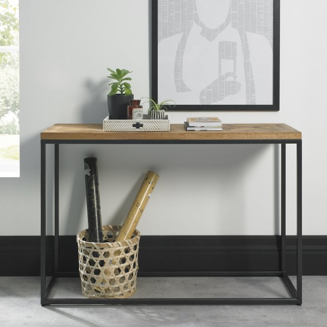 Signature Collection Indus Rustic Oak Console Table