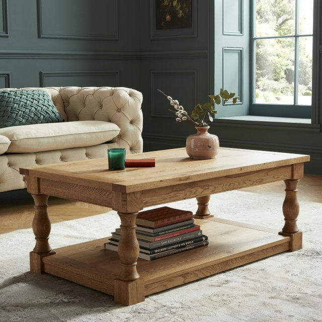Signature Collection Westbury Rustic Oak Coffee Table