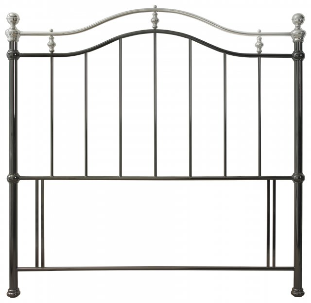 Headboards & Bedsteads Collection Chloe Black & Shiny Nickel Headboard Small Double 122cm