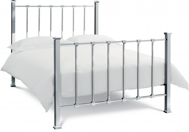 Headboards & Bedsteads Collection Madison Shiny Nickel Bedstead Double 135cm