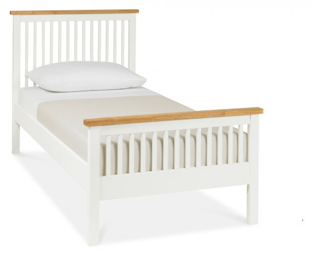 Gallery Collection Atlanta Two Tone High Footend Bedstead Single 90cm