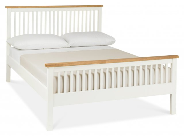 Gallery Collection Atlanta Two Tone High Footend Bedstead Double 135cm