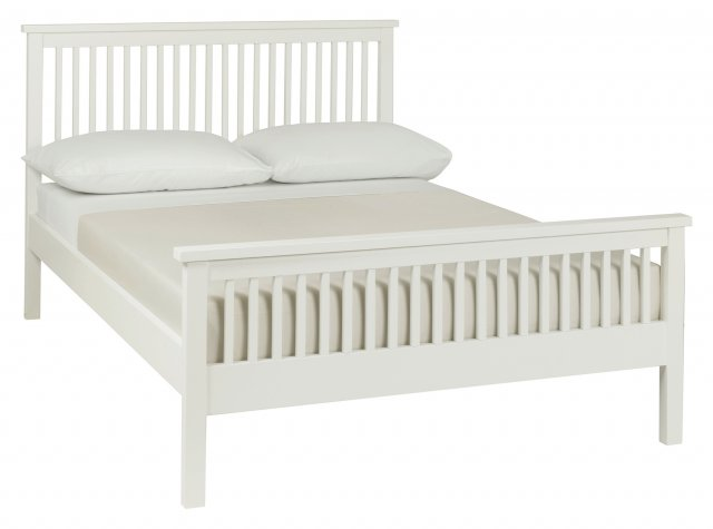 Gallery Collection Atlanta White High Footend Bedstead Double 135cm
