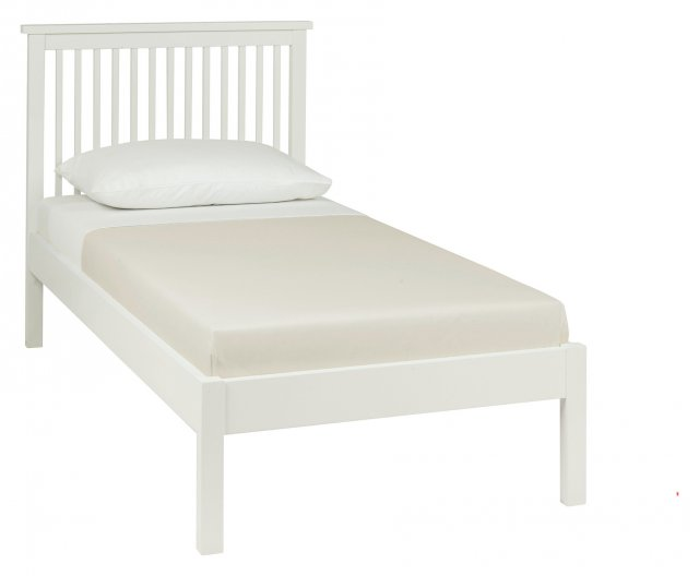 Gallery Collection Atlanta White Low Footend Bedstead Single 90cm