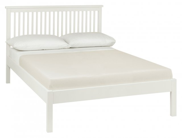 Gallery Collection Atlanta White Low Footend Bedstead Double 135cm