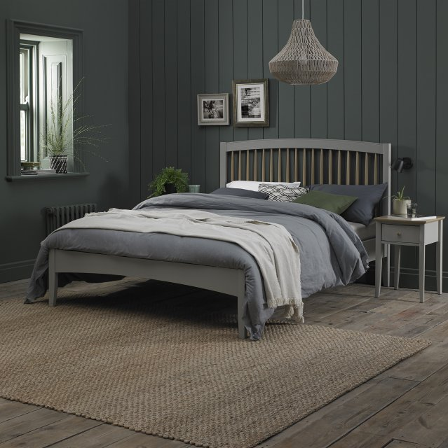 Premier Collection Whitby Scandi Oak & Warm Grey Low Footend Bedstead Double 135cm