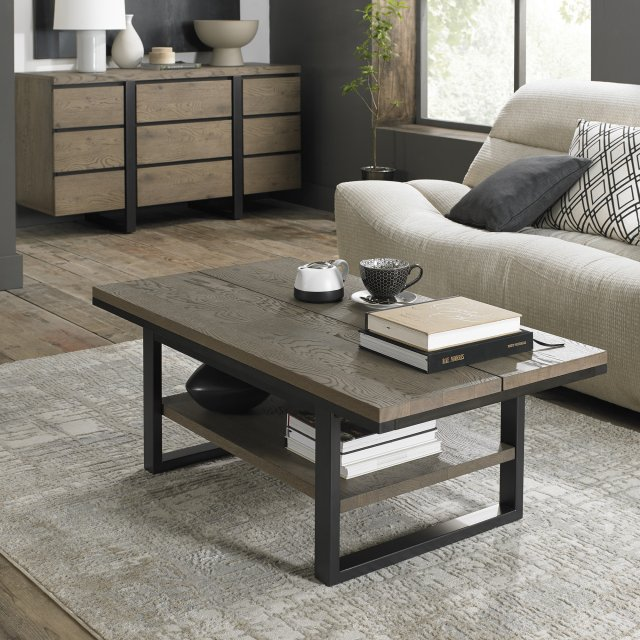 Signature Collection Tivoli Weathered Oak Coffee Table