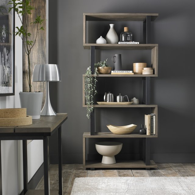 Signature Collection Tivoli Weathered Oak Open Display Unit