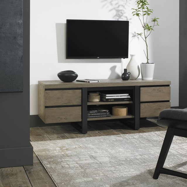 Signature Collection Tivoli Weathered Oak Wide Entertainment Unit