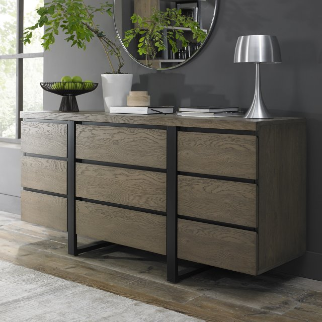 Signature Collection Tivoli Weathered Oak Wide Sideboard