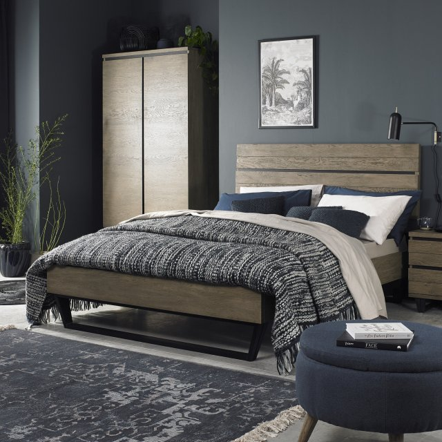 Signature Collection Tivoli Weathered Oak Low End Footend Bedstead Double 135cm