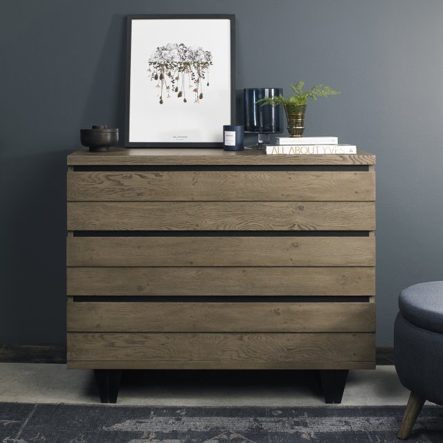 Signature Collection Tivoli Weathered Oak 3 Drawer Chest