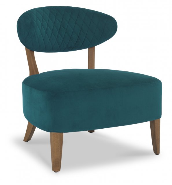 Signature Collection Margot Casual Chair - Sea Green Velvet Fabric