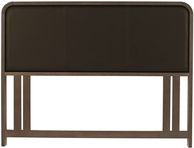 Premier Collection Capri Walnut Headboard Double 135cm - Brown Faux Leather