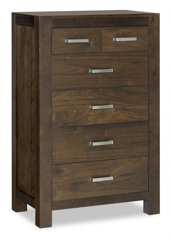 Premier Collection Lyon Walnut 4+2 Drawer Chest