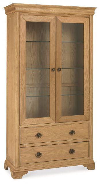 Signature Collection Chantilly Oak Double Display Unit